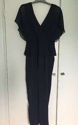 Phase eight navy jumpsuit size 10 formal wear