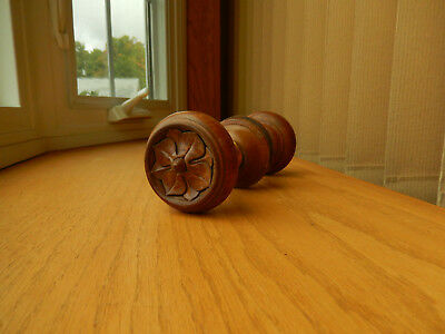 Antique Set Walnut Door Knobs with Recessed Design