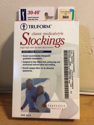 Truform Medical Compression Stockings Extra Firm Support 30-40 0846-M Thigh High
