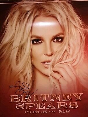 Britney Spears SIGNED Piece of Me Tour Poster VIP Concert Package and backstage