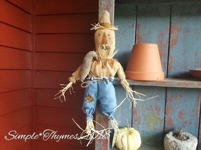 Primitive Halloween Scarecrow Doll~Fall~EAAM~