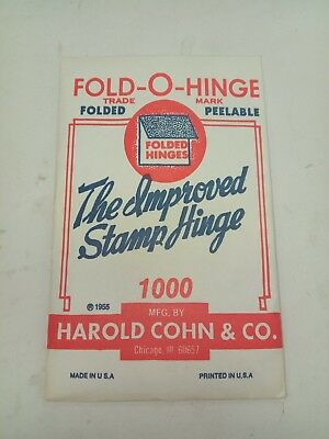 """""""green"""" Fold-O-Hinge One Of The Best Stamp Hinges Ever Made Folded 1000"""