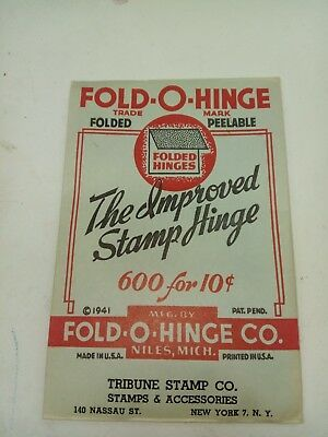 Fold-O-Hinge One Of The Best Stamp Hinges Ever Made Folded 600