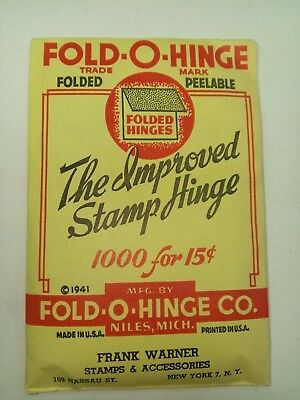 Fold-O-Hinge One Of The Best Stamp Hinges Ever Made Folded 1000