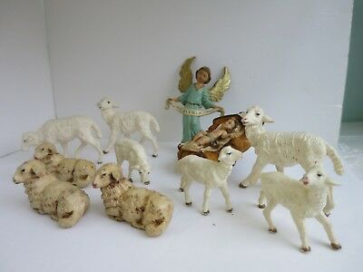 Mixed Lot Vintage Nativity Figures Made in Italy sheep angel baby Jesus sheep