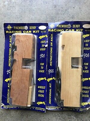 Vintage Boy Scouts Of America Pinewood Derby Cars, Lot Of 2