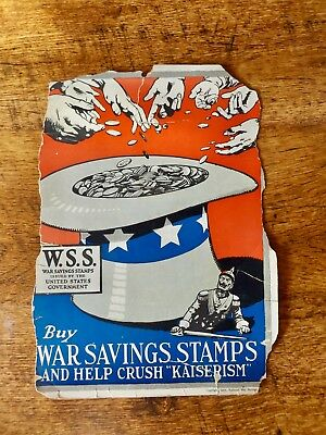 1918 Wwi World War 1 Your War Savings Pledge Uncle Sams Hat W.s.s. Poster