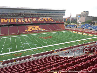 3 Tickets Minnesota Golden Gophers vs. New Mexico State Aggies Football 8/30/18