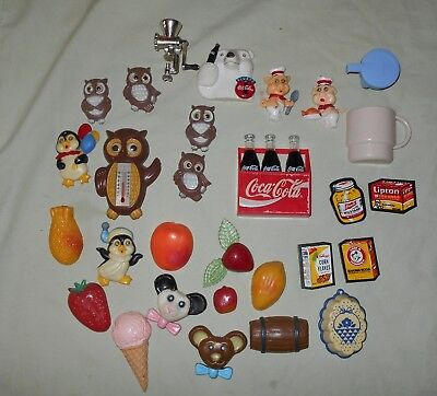Mixed Lot 39 Vintage Refrigerator Magnets Fruit Advertising and Others