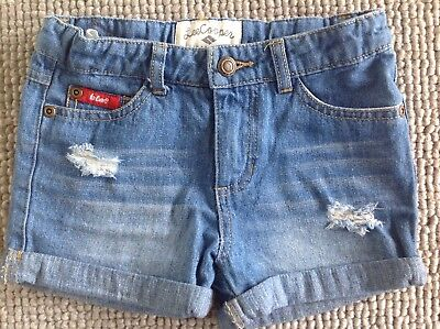 Size 4 girls denim shorts LEE COOPER Brand New adjustable waist