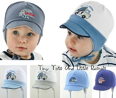 Baby Boy Infant Toddler Cotton Elastic Spring Autumn Hat Cap 3 mths - 4 years