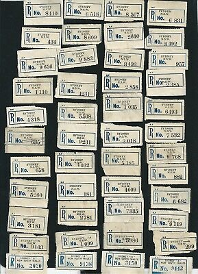 Collection of 273 Old Sydney NSW Blue and Black Registration Labels