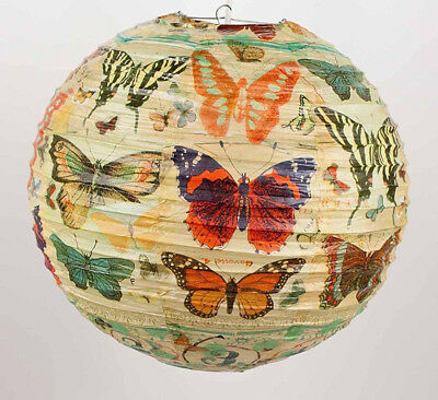 "History of the Butterfly Paper Lantern by Blue Q - Size 13 3/4"" Diameter - New"