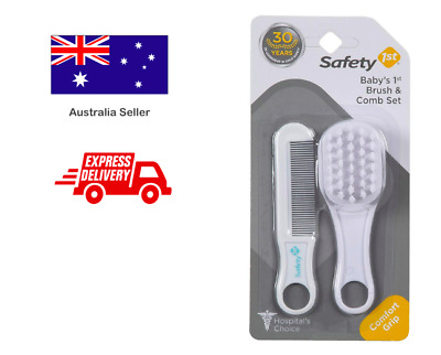 SAFETY 1ST Baby Infant Soft Brush Comb Set Kit for Hair Grooming Shower Care 2pc