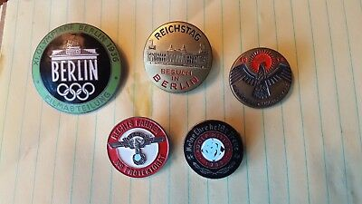 ww2 german pins lot of 5 and 2 russian pins