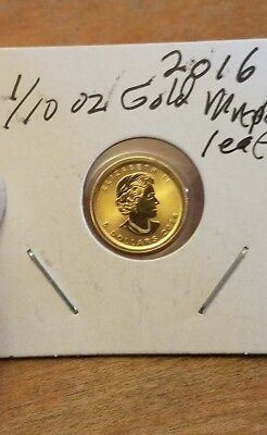 2016 Canada 1/10 oz Gold Maple Leaf .999