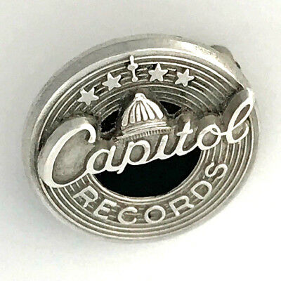 Vintage Capitol Records Sterling Silver .925 Employee Service Award Lapel Pin