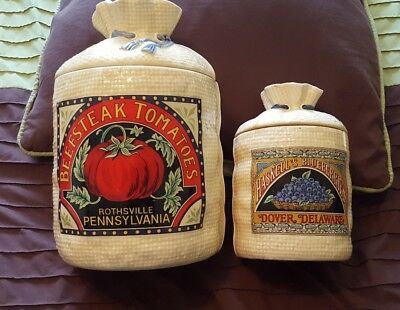 1988 h&hd hearth and home designs beefsteak tomatoes & Haskell blueberries jars