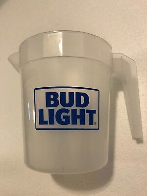2 New 48oz COORS LIGHT OR Bud Light Plastic Beer Pitcher - LOT OF 2