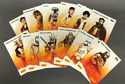 Complete Set - Denny's A Star Wars Story: Solo 2018 Topps