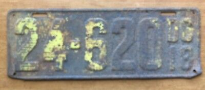 Vintage License Plate Washington DC District of Columbia 1918 See Photos