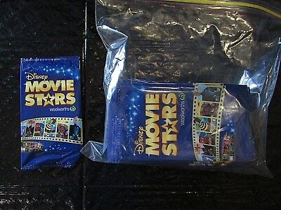 Woolworths Disney Movie Stars Unopened Cards x 50 packs