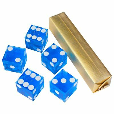 19mm AAA Grade Casino Craps Dice with Matching Serial Numbers (Set of 5, Blue)