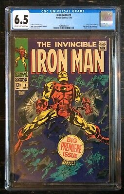The Invincible Iron Man #1 CGC 6.5 Cream to Off-White Pages