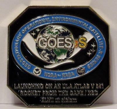Goes-S Coin Space Mission Launch Nasa Noaa Usaf Ula Launch Base Team