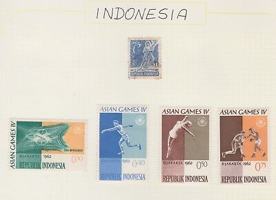 INDONESIA Collection 1962 Asian Games, Road Improvement etcUSED MH As Per Scan #