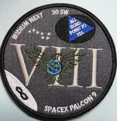 30 Sw Viii Falcon 9 Iridium Next Viii (8) Space X Mission Patch Free Shipping