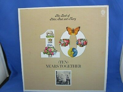 (Ten) Years Together The Best Of Peter, Paul, And Mary Lp 33 Vintage Bsk 3105