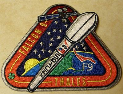 ORIGINAL SPACEX FALCON 9 TurkmenÄlem52E THALES  SPACE MISSION PATCH