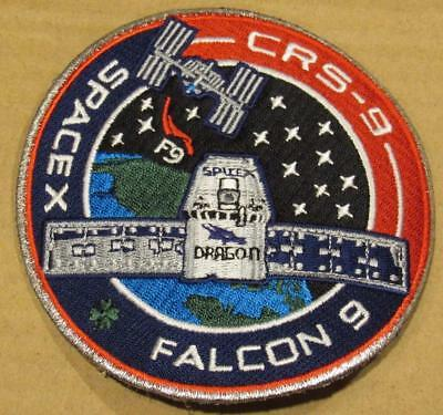 Original Crs-9 Free Shipping Spacex Falcon9 Dragon Vehicle Space Mission Patch
