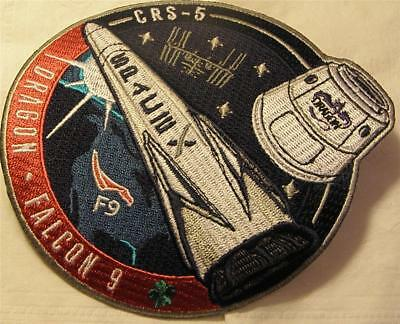 Original Spacex Falcon9 Crs-5 Dragon Satellite Vehicle Space Mission Patch