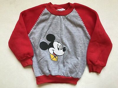 Vintage Childrens Mickey Mouse Pullover Sweater Sz 4T EUC