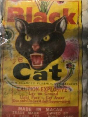 "Black Cat Firecracker Pack Label 2"" 6s"