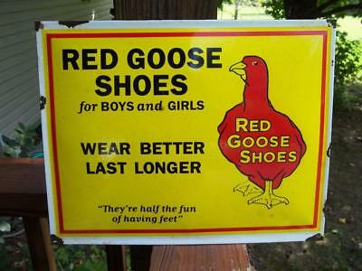 Red Goose Shoes For Boys And Girls Porcelain Sign Wear Better Last Longer Store