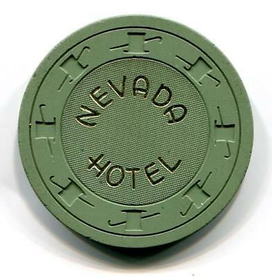 Battle Mtn/Ely HOTEL NEVADA 50¢ Casino Chip 1950s CR#N3928 low book $50