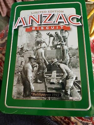 COLLECTABLE ANZAC BISCUIT TIN LIMITED EDITION Balikpapan 1945