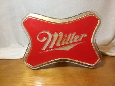 Vintage Miller Sign Plastic No Light Nice Wall Hanger