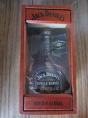 Jack Daniel's Single Barrel Wooden Display Case with Bottle (empty)
