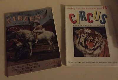 Lot 2 Ringling Bros & Barnum & Bailey Circus Magazine 1941 & 1944 good condition