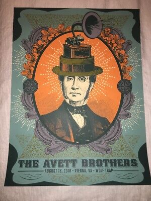 Avett Brothers Poster Wolf Trap VA 2018 #59 Of 200