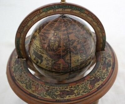 Vintage Zodiac Astrology Desktop Globe Made In Italy Old World Style Wood Globe