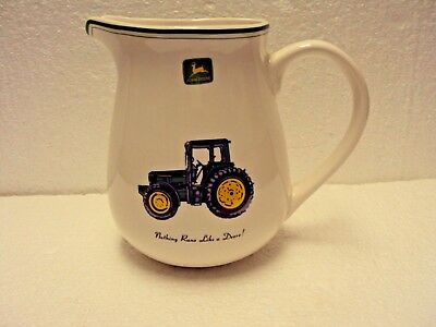 JOHN DEERE Water Pitcher By Gibson Holds 2 Qts.