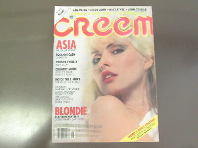 August 1982 CREEM MAGAZINE with Blondie on the cover - Heart calendar and poster