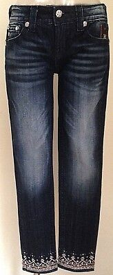"""New With Tag Miss Me Jeans Signature Ankle Skinny Jp 8757 Ak Inseam 27"""""""