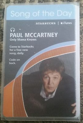 "Starbucks Card ""itunes Paul Mccartney Song Of The Day"""