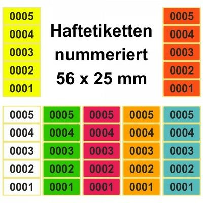 Sticker/Labels on Roll - Continuously Numbered -
